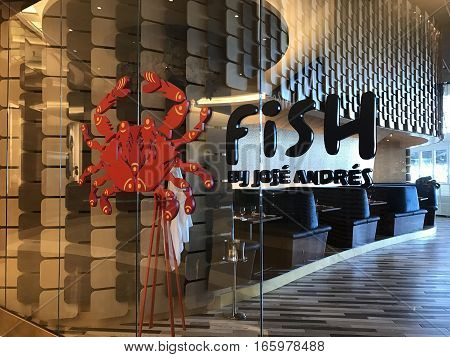 WASHINGTON D.C. (National Harbor, Maryland) - January 18, 2017. Jose Andres opened up his newest restaurant