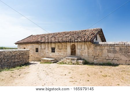 Karaite kenesa of the XVI century the medieval fortress town Chufut-Kale Crimea Republic Russia