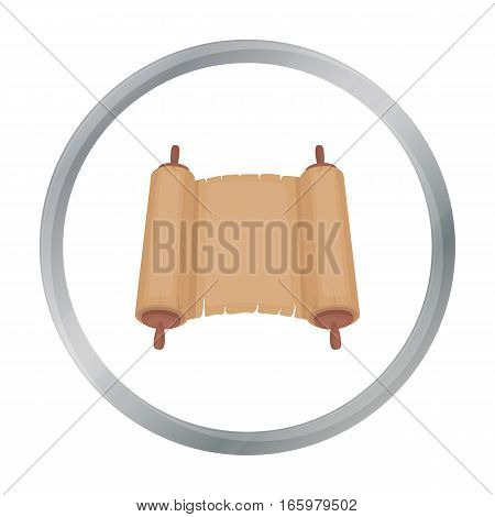 Tanakh icon in cartoon style isolated on white background. Religion symbol vector illustration.