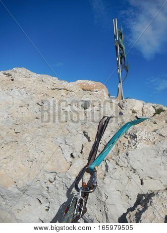 Climbing Gear On The Cyprus Limestone