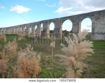 Old Abandonec Aquaduct In Larnaka