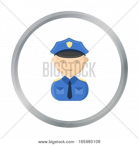 Policeman cartoon icon. Illustration for web and mobile.