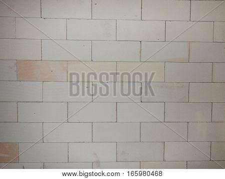 White Brick Block Wall Texture