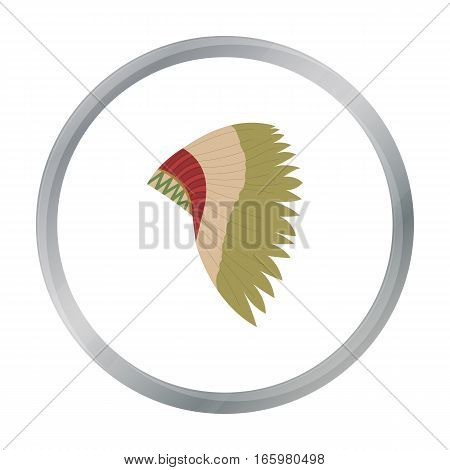 Mohawk indian icon cartoon. Singe western icon from the wild west cartoon. - stock vector