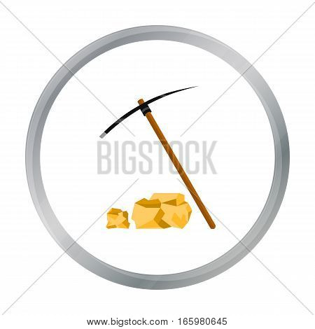 Pickaxe icon cartoon. Singe western icon from the wild west cartoon. - stock vector