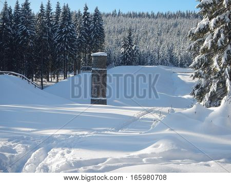 Protrzena Prehrada Site In Jizerske Hory In Czech Republic