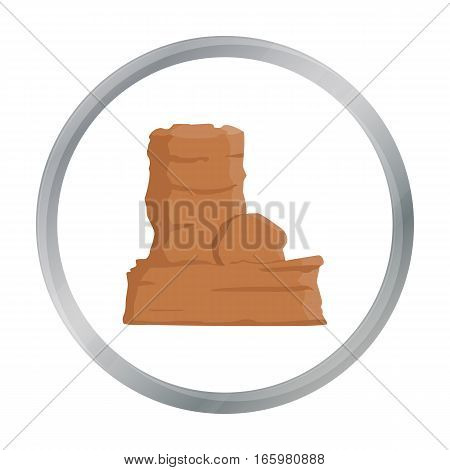 Rock icon cartoon. Singe western icon from the wild west cartoon. - stock vector