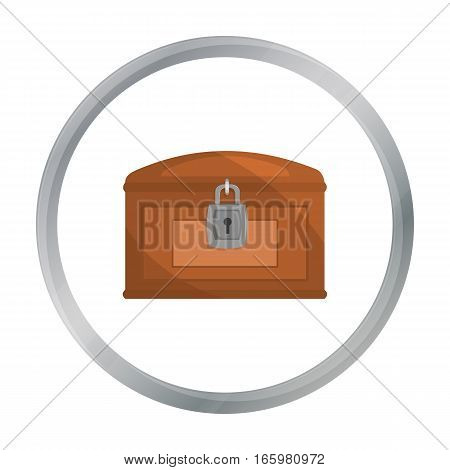 Chest icon cartoon. Singe western icon from the wild west cartoon. - stock vector