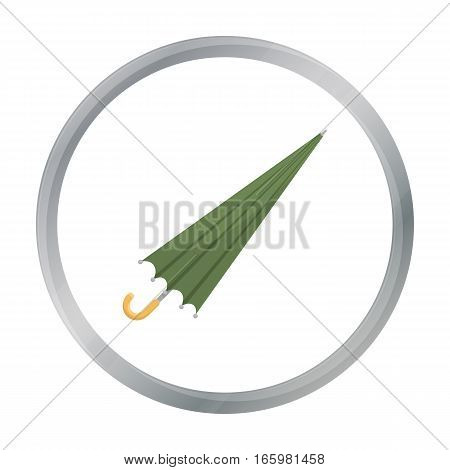 Umbrella icon in cartoon style isolated on white background. Weather symbol vector illustration.