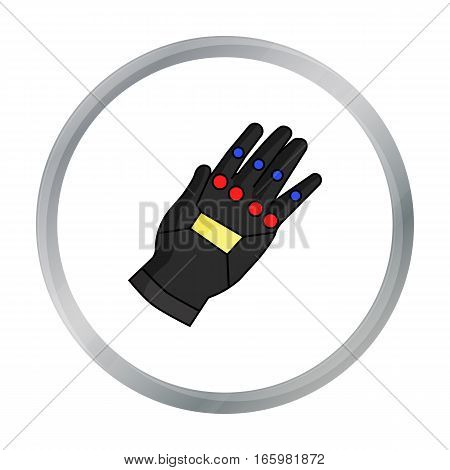 Virtual reality glove controller icon in cartoon style isolated on white background. Virtual reality symbol vector illustration.