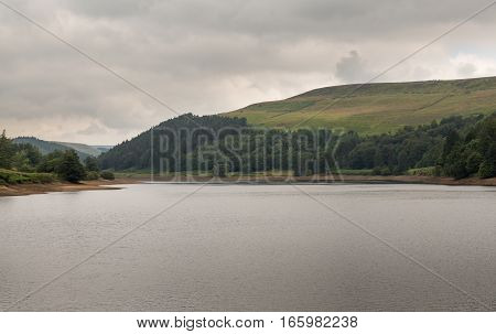Derwent Reservoir in the Peak District in Derbyshire