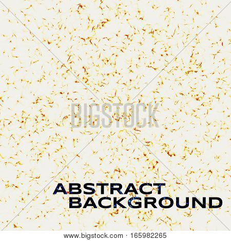 Abstract background. Cold flame on white background. Falling gold confetti pieces. Vector illustration.