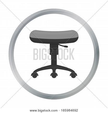 Chair rolling icon cartoon. Single tattoo icon from the big studio cartoon. - stock vector