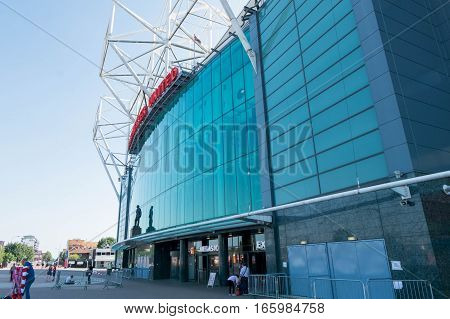 Manchester, England - July 19 2016 : Old Trafford Stadium The Home Of Manchester United. It Is The L