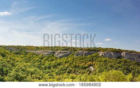 The mountain in vicinities of Bakhchisarai early autumn