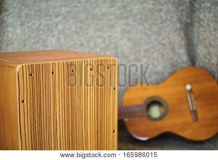 A Cajon and guitar. Super musical duet