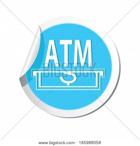 ATM cashpoint icon on the sticker. Vector illustration