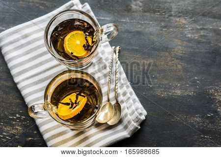 Glass Of Tea With Lemon