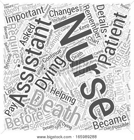 Helping Nursing Assistants with Dying and Death Word Cloud Concept