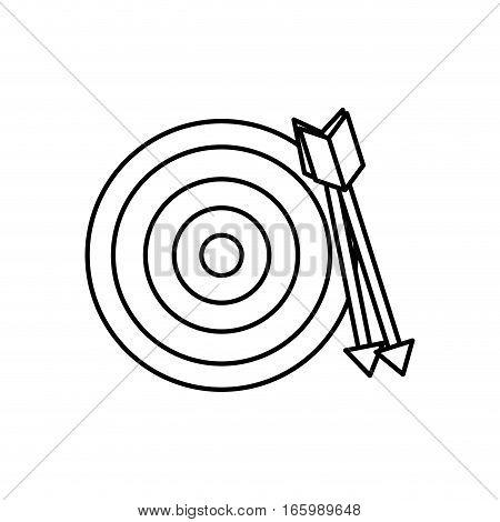 Round target dartboard icon vector illustration graphic design