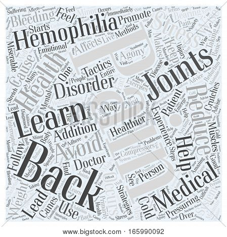 Hemophilia and Back Pain Word Cloud Concept