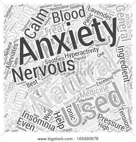 Herbs That Help With Anxiety Word Cloud Concept