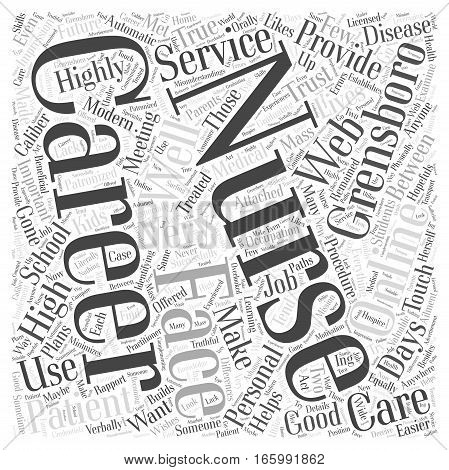 High Caliber Nursing Careers In Grensboro Word Cloud Concept