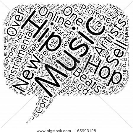 Hip Hop Beats Online New Ideas in Music text background wordcloud concept