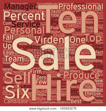 Hire A Six text background wordcloud concept
