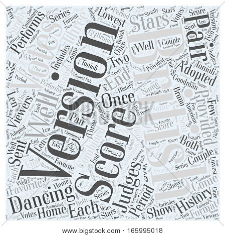 History of Dancing with the Stars Word Cloud Concept