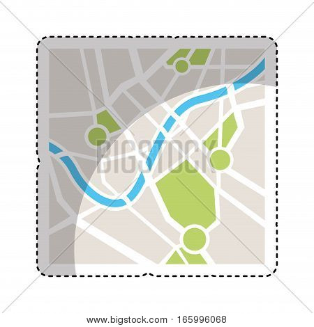 map paper guide isolated icon vector illustration design