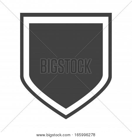shield protection insignia honorary vector illustration eps 10