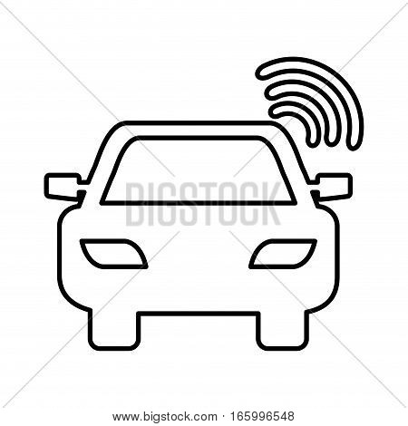 car with gps service vector illustration design