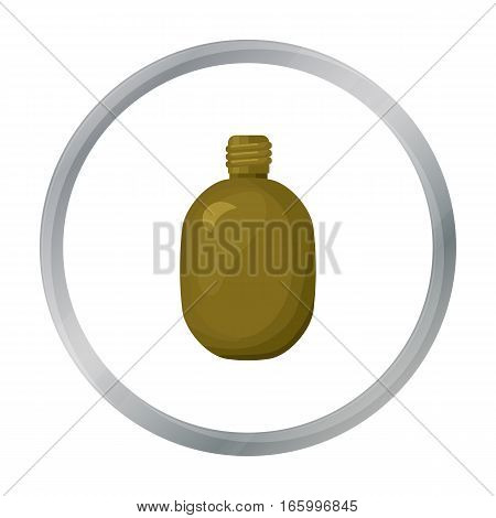 Army canteen icon in cartoon style isolated on white background. Military and army symbol vector illustration - stock vector