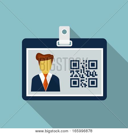 Vector Identification card, design element for mobile and web applications, eps 10