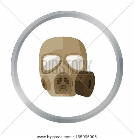 Army gas mask icon in cartoon style isolated on white background. Military and army symbol vector illustration - stock vector