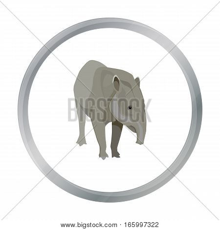 Mexican tapir icon in cartoon style isolated on white background. Mexico country symbol vector illustration. - stock vector