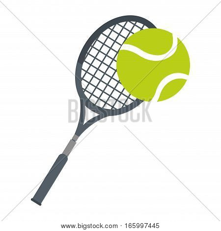 racket ball tennis equipment icon vector illustration eps 10
