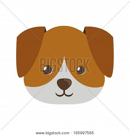 cute face doggy pet icon vector illustration eps 10