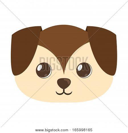 cartoon cute puppy dog big ears vector illustration eps 10