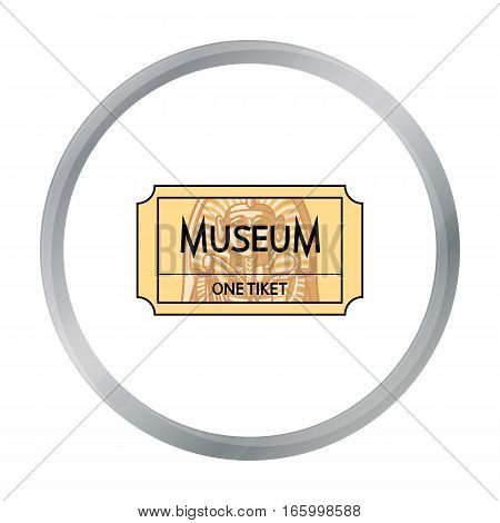 Ticketto the museum icon in cartoon style isolated on white background. Museum pattern vector illustration. - stock vector