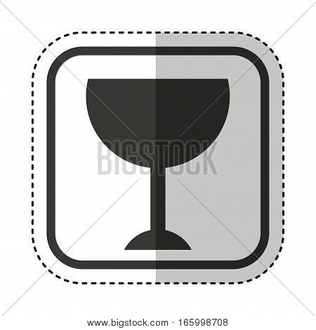 cup fragile packing sign vector illustration design