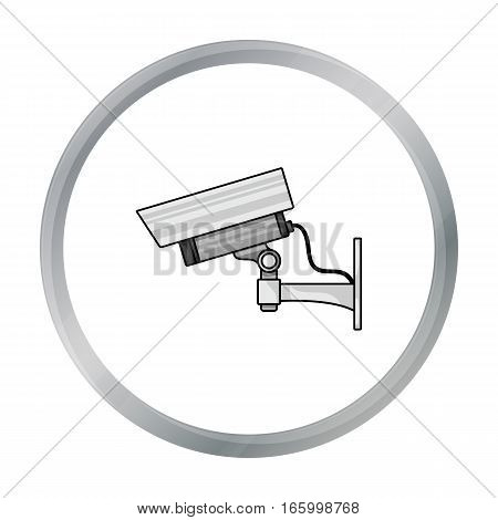 Security camera icon in cartoon style isolated on white background. Museum symbol vector illustration. - stock vector