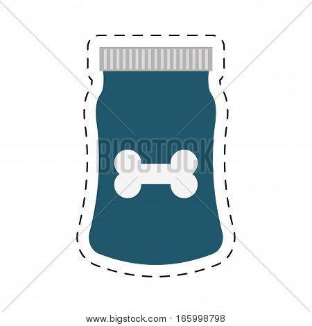 blue bag food dog and cat nutrition line dotted vector illustration eps 10