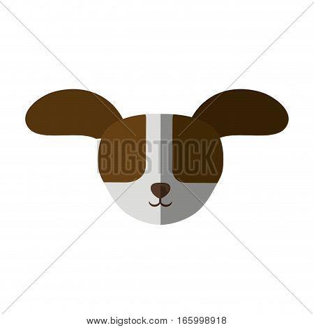 head dog big ears up shadow vector illustration eps 10