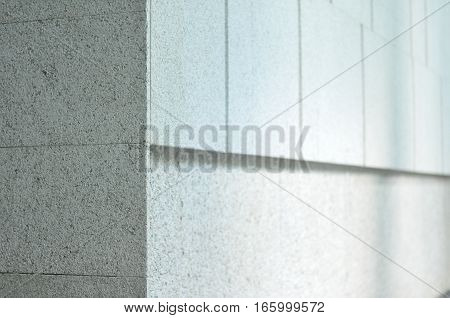 Stone Wall Detailing in Architecture. Sandy Beige