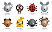 Cartoon characters - animals - wild,insects and pets poster