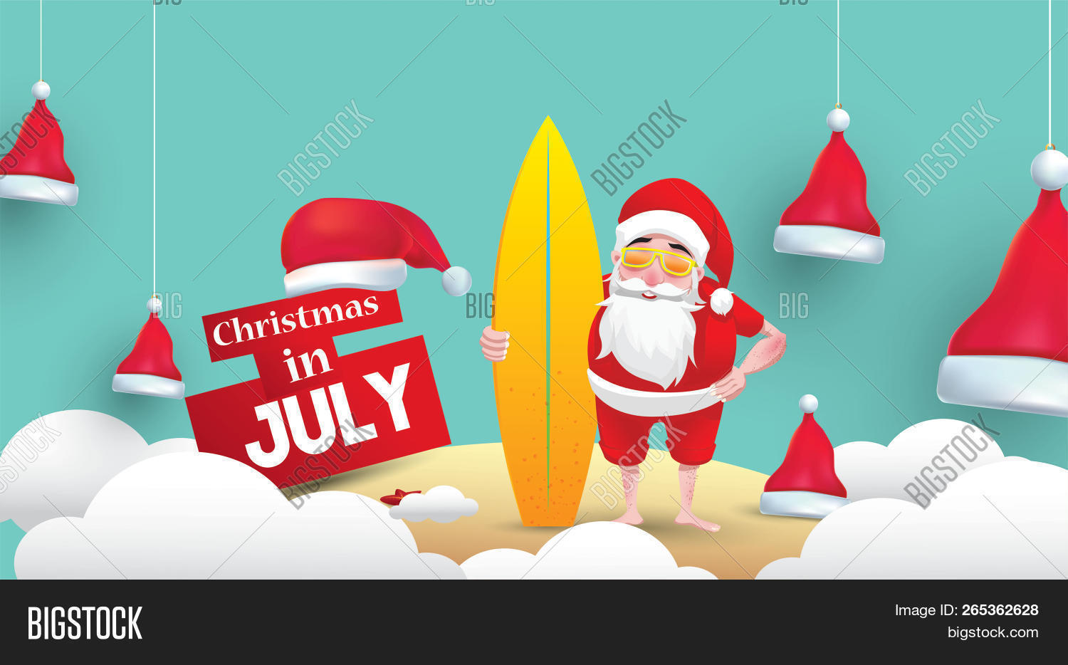 Christmas In July Free Image.Christmas July Design Image Photo Free Trial Bigstock