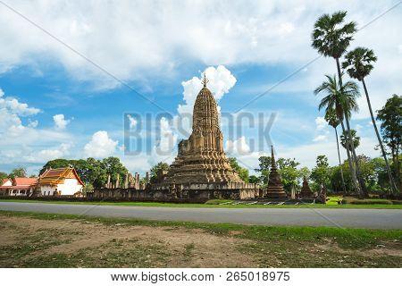 Wat Phra Si Ratana Mahathat in Si Satchanalai Historical Park, Sukhothai province, Thailand. poster