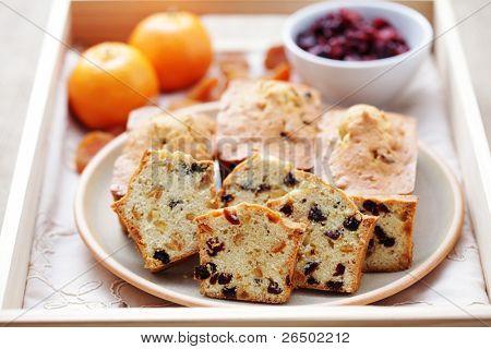 homemade small fruitcakes - sweet food